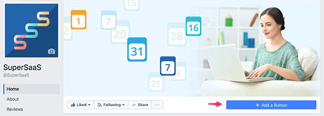how to add button to front of facebook business