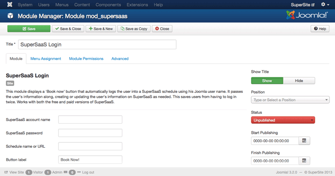 Joomla! SuperSaaS Module